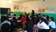 Գյուլագարակի դպրոցում հյուր էին Վանաձորի թիվ 4 դպրոցի մասնագետները. Տեսադաս 8-րդ ա դասարանում