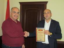 Լոռու մարզպետ Անդրեյ Ղուկասյանն արժանացավ Հայաստանի գրողների միության պատվոգրի