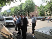 Մարզի ղեկավարը ծանոթացավ մարզկենտրոնում իրականացվող փողոցների և բակերի բարեկարգման աշխատանքներին